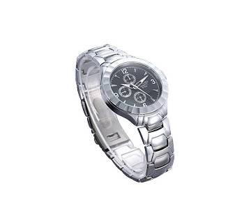 LONGBO Black & Silver Wrist Watch For Women
