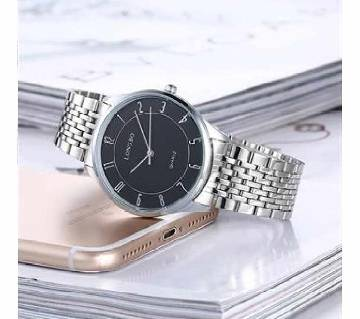LONGBO Black & Silver Watch For Men