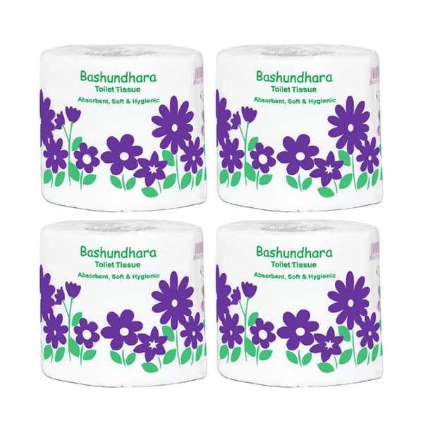Bashundhara Toilet Tissue 4 pcs