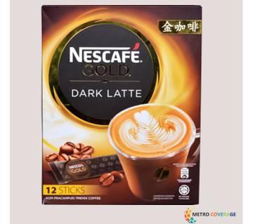 Nescafe Gold Dark Latte 12 Sticks 12×34(gm)