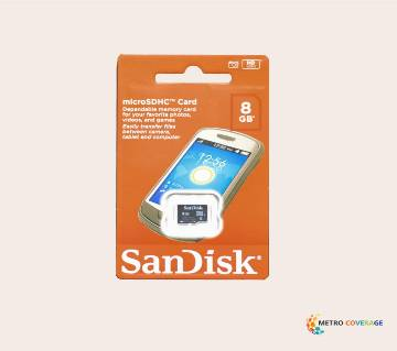SanDisk মেমোরি কার্ড - ৮ জিবি