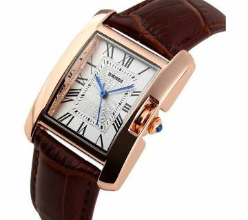 SKMEI 1085 custom leather ladies promotional cheap leather cuff watches