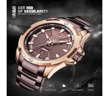 NAVIFORCE 9161 Men Watch Fashion Sports Quartz Military Army Male Wristwatch Genuine Stainless Steel Strap Waterproof