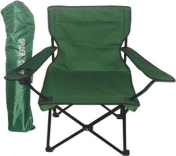 Foldable Camping Chair with packing Pouch , Green , Large size