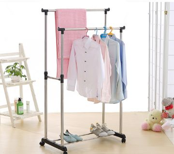 Double Adjustable Clothes Rack