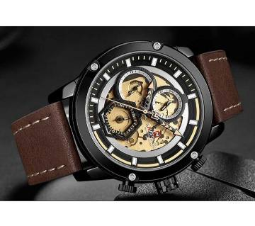 NAVIFORCE NF9167  Mens Watches Top Brand Luxury Quartz Watch Men Leather Waterproof Watches Calendar Male Clock Relogio Masculino