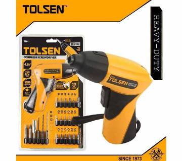 TOLSEN Cordless Screwdriver with Free Drill Bits