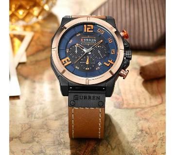 curren 8287 Fashion style  mens watches Top luxury brand quartz luminous chronograph watch sport men watch man