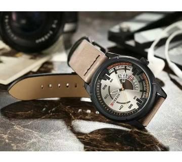 CURREN 8298 Mens watches Top brand luxury men leather quartz watch strap Fashion male Casual waterproof watch