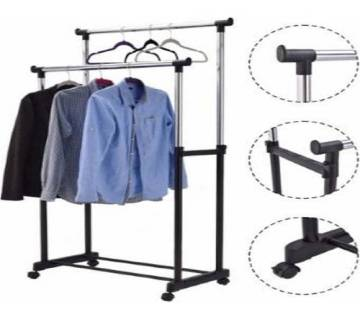 2 Layered Clothes Hanging Stand
