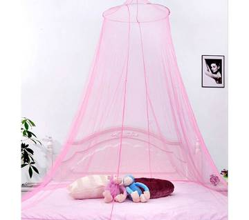 White round mosquito net  with foldable popup ring and hanging kit