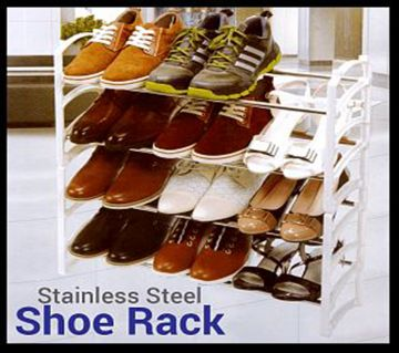 Olympia 4 Layer Stainless Steel Shoe Rack