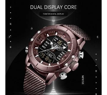 Naviforce 9153 Top Brand  LED Digital Luxury  Sport Digital Military Men Watch Steel Strap Wrist Watch Relogio Masculino