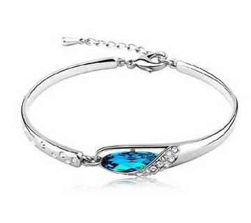 Crystal blue bracelet