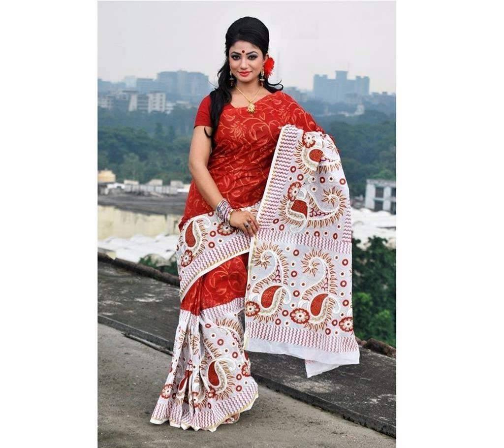 হ্যান্ড প্রিন্টেড কোটা কটন শাড়ি বাংলাদেশ - 632141