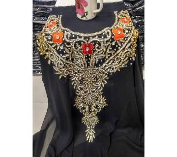 Unstitched Single Piece Double Georgette Embroidery Dress (Kameez)