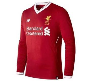 2017-18 Liverpool Home Full Sleeve Jersey
