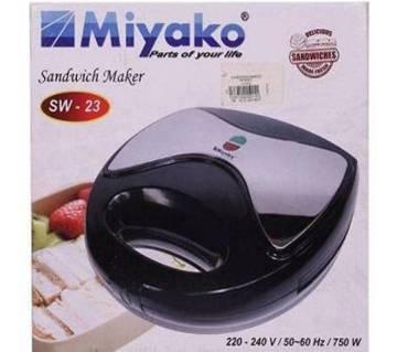 Miyako SW-23 স্যান্ডউইচ মেকার (ব্ল্যাক)