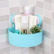 Triangle shelf for bathrooms