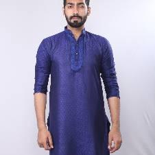 Semi-Long Linen Punjabi For Men