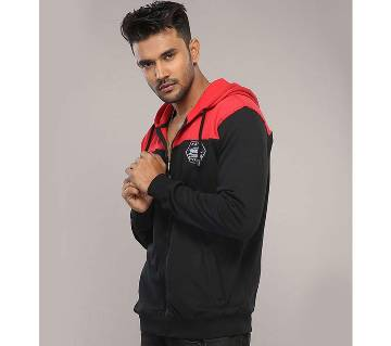 Winner Mens Hoodie W17-MH02- BLACK RED