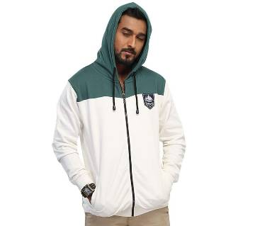 Winner Mens Hoodie W17-MH02- WHITE GREEN