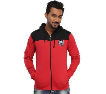 Winner Mens Hoodie W17-MH02- RED BLACK