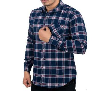 Menz Casual Shirt - 43650 - BLUE CHECK