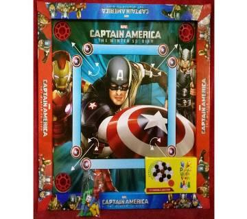 Captain America kids carom-board cum ludo & snake ladder