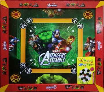 WOODEN AVENGERS Kids Carrom 3 In 1 Game Board - Multicolor