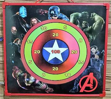 AVENGERS MAGNETIC DART & WRITING 2 IN 1 BOARD-MULTICOLOR