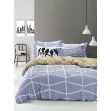 Poly-cotton Double Size Bed sheet set - 4 pcs