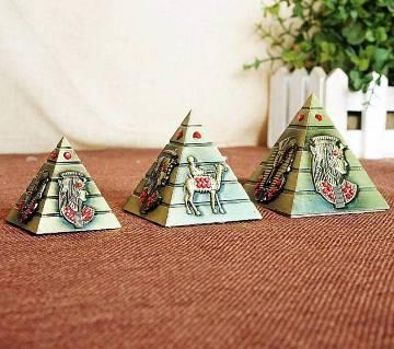 Three pieces a set Metal pyramid Egyptian Pyramids