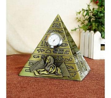 Pyramid with clock