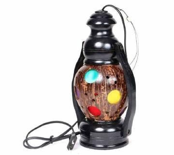 Coconut Shell Made Hurricane Lamp