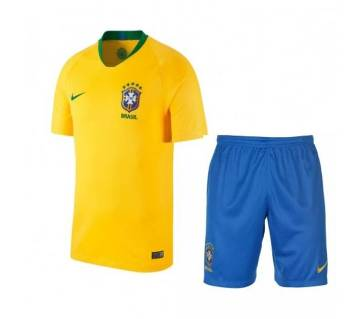 Brazil Home World Cup Jersey With Pant