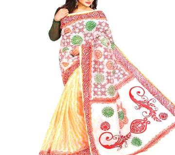 Multicolour  কটন শাড়ি