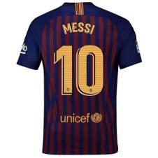 2018-19 Barcelona Home Messi #10 Short Sleeve Jersey