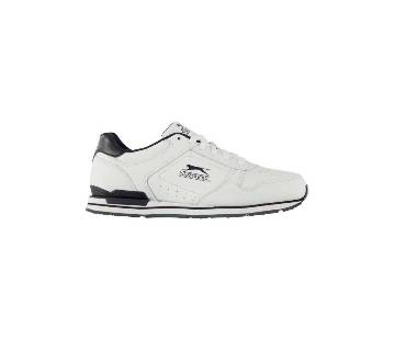 White Leather Trainer Shoes for Men