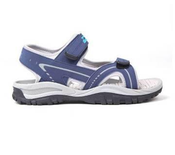 Blue Textile Fabric Wave Sandals for Men