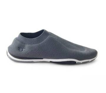 Grey Hi Drive Slip On Pump Shoes For Men