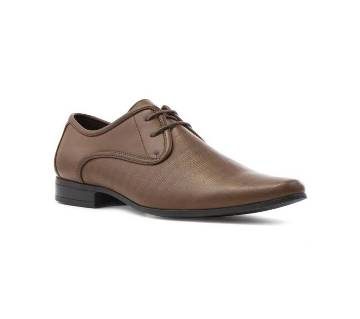 Brown Synthetic Formal Shoes for Men