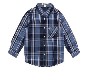 Black Check Cotton Long Slave Age Shirt