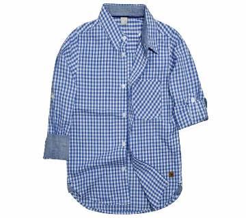 Sky Blue Color Cotton Long Sleeve boyz Shirt
