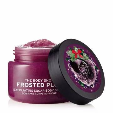 THE BODY SHOP frosted plum exfoliating body scrub