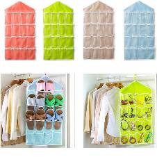 16 Pocket Wall mounted storage bag