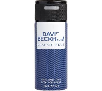 David Beckham Classic Blue Deodorant Spray 150ml Portugal
