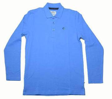 gents cotton full sleeve polo shirt