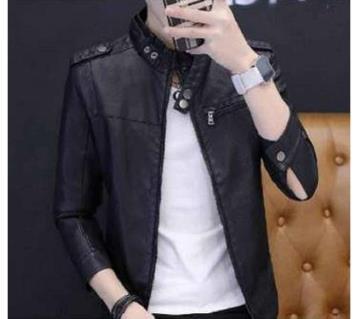 Full Sleeve Gents PU Leather Jacket