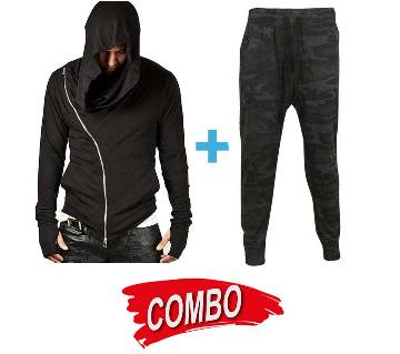 Gents Slipping trousers + Gents Full Sleeve Hoodie Combo Offer